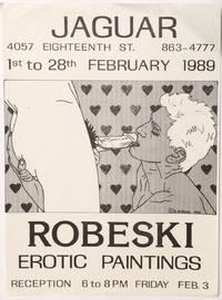 Robeski: erotic paintings [handbill for a show at Jaguar in San Francisco]