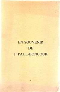 En souvenir de J. paul-boncour