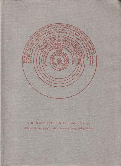Bethlehem: Lehigh University, 1973. Paperback. Very good. 49pp. Lightly edgeworn, else a very good p...