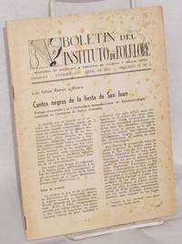 Cantos negros de la fiesta de San Juan; in Boletin del Instituto de Folklore, Abril de 1963, volumen IV, no. 3