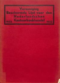 Beschermde Lijst Voor Den Nederlandschen Kantoorboekhandel