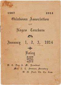 1907 1914 OKLAHOMA ASSOCIATION OF NEGRO TEACHERS JANUARY 1, 2, 3, 1914...[wrapper title]