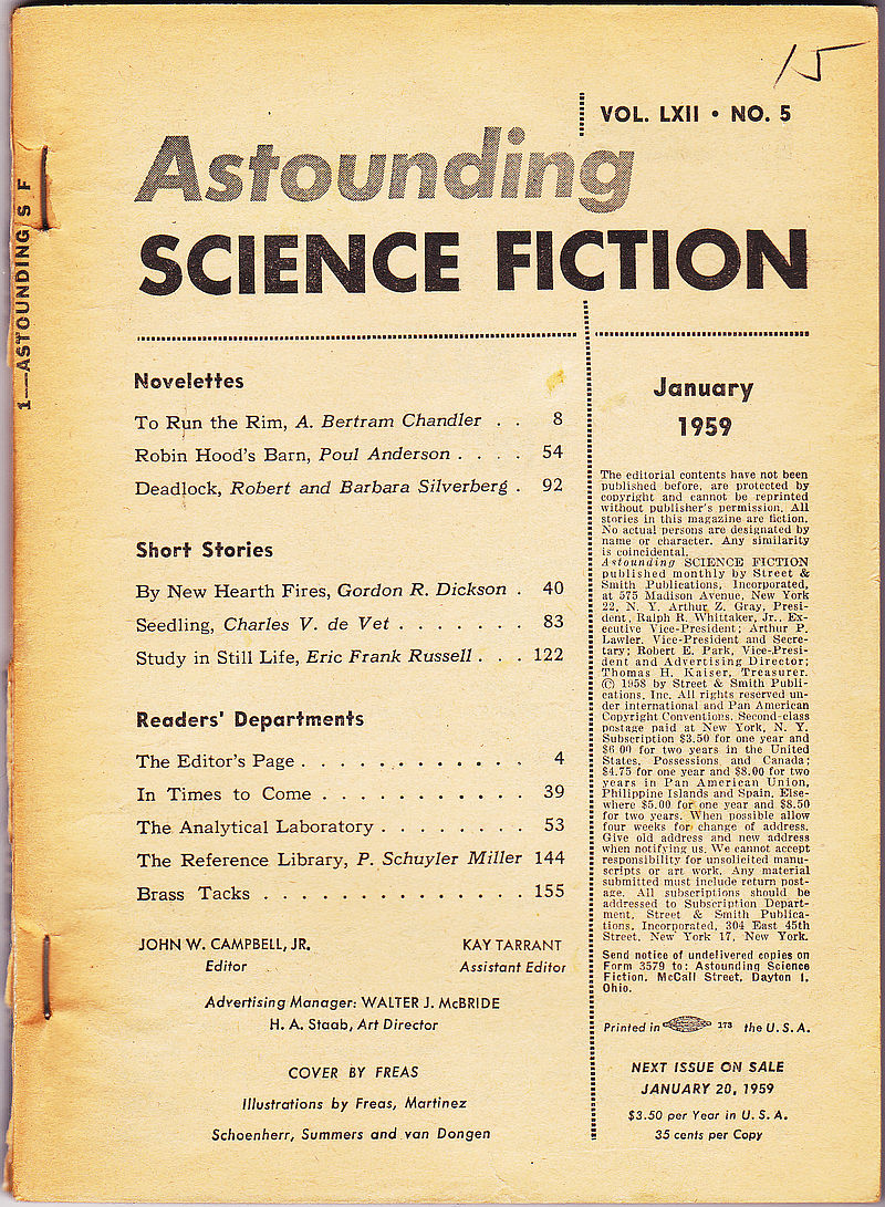 Astounding Science Fiction, January 1959 (Volume 62, Number
