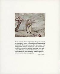 BOOKS SEEM TO ME TO BE PESTILENT THINGS .. by Gorey, Edward and John Locke - 1975