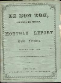 LE BON TON, JOURNAL DE MODES & MONTHLY REPORT OF PARIS FASHIONS, SEPTEMBER  1861 Volume 10, No. 9