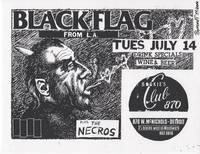 Black Flag at Bookie's Club, Detroit (1981 Silkscreen Concert Flyer)