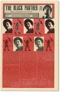 "The Black Panther: Black Community News Service - Vol.V, No.16 (October 17, 1970) by NEWTON, Huey P., George Jackson, and Alprentice ""Bunchy"" Carter, et al. (contributors); DOUGLAS, Emory (cover art) - 1970"