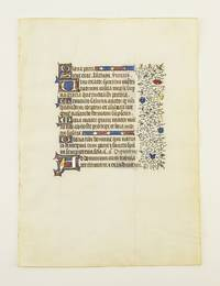 FROM A VERY FINE, VERY LARGE BOOK OF HOURS by  OFFERED INDIVIDUALLY ILLUMINATED VELLUM MANUSCRIPT LEAVES - ca. 1440 - from Phillip J. Pirages Fine Books and Medieval Manuscripts (SKU: ST12158bB)