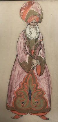 Untitled painting (mage or pasha) by  Willy Pogany  - Original work  - 1930s?  - from Passages Bookshop (SKU: 4157)