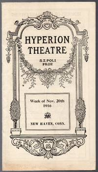 image of 1916 Souvenir Theater Program for the Hyperion Theater New Haven Ct