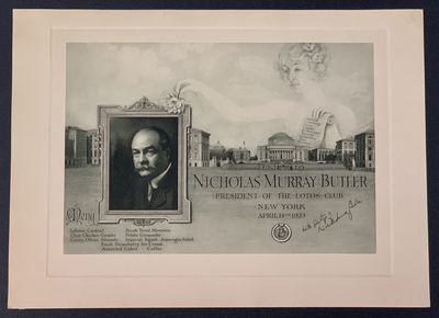 , 1923. 1st Printing. SIGNED by Butler. Now housed in an archival mylar sleeve. Only light wear & ag...