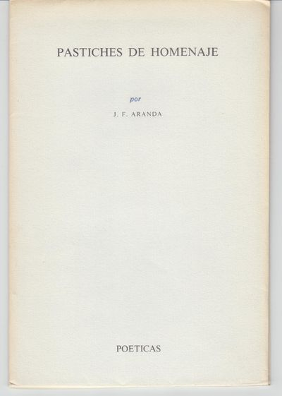 Santa Cruz de Tenerife: Carlos E Pinto, Editor. 1981. First Edition; First Printing. Softcover. Wrap...