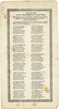 image of [Drop title] Ein Neues Lied von der Mordgeschichte des Joseph Müller, welcher im Januar 1822, in einer Sonntags-Nacht, seine schwangere Frau und zwei Kinder auf eine grausame Urt ermordete und sich selbst erhing; welches Alles, wie man glaubt, aus Armuth geschah