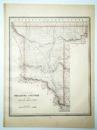 1889 Colored Map of the Oklahoma Country in the Indian Territory