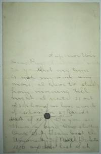 image of Handwritten letter with High School or College football anecdotes. Superior, Wisconsin vs. University of North Dakota