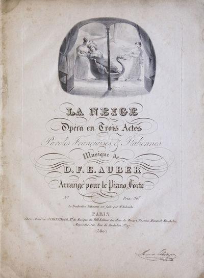 Paris: Maurice Schlesinger , 1825. Folio. Full mid-tan cloth, upper with original series title (