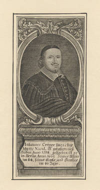 Half-length portrait engraving by G.P. Busch within decorative oval border