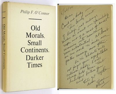Iowa City: University of Iowa Press. (1971). His first book, warmly inscribed by O'Connor, over a fu...