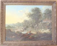 """AN EXTENSIVE WOODED LANDSCAPE WITH FIGURES BY A FORD"" (Oil on Canvas) by  1769)  1708 - Dresden - Signed - 1757 - from Louis Caron and Biblio.com"