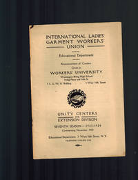 image of International Ladies' Garment Worker's Union Educational Dept. Announcement of Courses Given in Worker's University, Seventh Season, 1923-1924