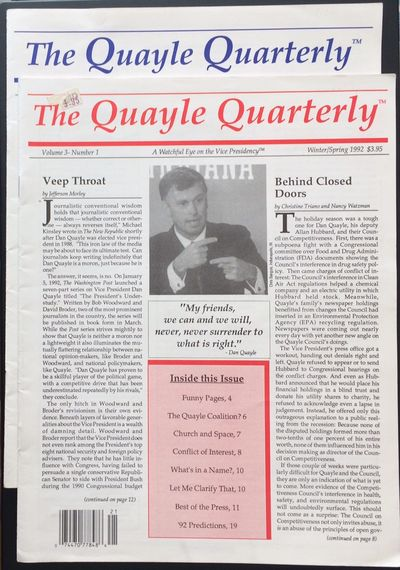 Bridgeport, CT: the Quarterly, 1992. Two issues of the 20-page magazine, very good (one with part of...
