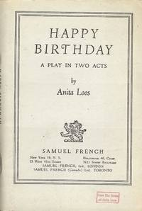 image of HAPPY BIRTHDAY: A PLAY IN TWO ACTS