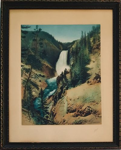 Saint Paul, MN: Haynes, 1916. Large photograph that has been hand tinted and on tan Haynes mount wit...