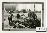 image of Six original photographs of pre-War California midget car racing in Los Angeles, circa 1941