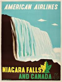 [Vintage Poster:] AMERICAN AIRLINES  NIAGARA FALLS AND CANADA by Kauffer, Edward McKnight - 1954