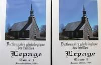 image of Dictionnaire généalogique des familles Lepage. Tomes 1 et 2