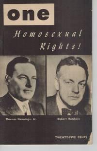 One Homosexual Magazine   January 1956 Third Anniversary Issue