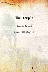 The temple Sacred Poems And Private Ejaculations 1884 by George Herbert - Paperback - 2015 - from Gyan Books (SKU: PB1111003288919)