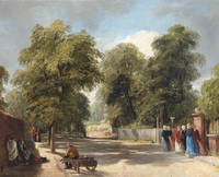 "The Walk, Hampstead"" or ""The Spaniards - Hampstead Heath"" (Oil on Canvas)"