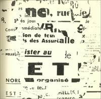"""image of TPL: """"Tombeau de Pierre Larousse""""; Poésie von François Dufrêne; """"Décollagen"""" (Abrisse) (1956-1961) von Wolf Vostell; """"Oreille pour un Tombeau"""" (Ohr für ein Grab), Einführung von Alain Jouffroy"""