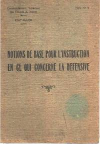 Notions de base pour l'instruction en ce qui concerne la défensive