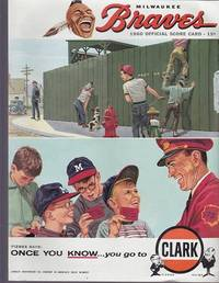 Milwaukee Braves 1960 Official Score Card