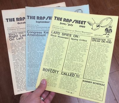 Los Angeles, CA: Citizens' Commission on Police Repression, 1980. Three issues of the 8.5x11 inch, f...