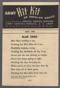 image of Army Hit Kit of Popular Songs. July, 1943
