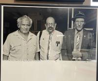 PHOTO OF NORMAN MAILER, ALAN GINSBURG, & WILLIAM S BURROUGHS: Boulder, CO 1985 [SIGNED limited edition 1/6]
