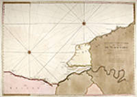 I. Carte Particuliere des Costes de Normandie Depuis Dieppe jusqu'a la pointe de la Perçée en Bessin. Faite Par Ordre Exprez du Roy de France