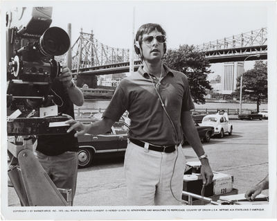 Los Angeles: Twentieth Century-Fox, 1971. Vintage press photograph of director William Friedkin on t...