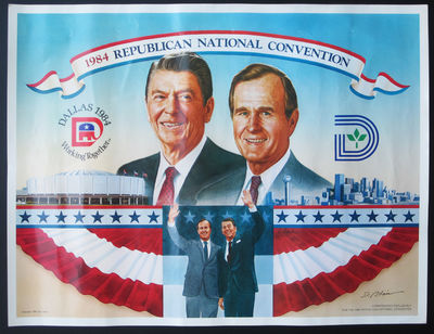 BUSH National Republican Convention Postcards Lot of 20 Rare 1984 REAGAN
