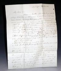 image of 2 page autographed Bifolium to James R. Williams, April 20, 1842