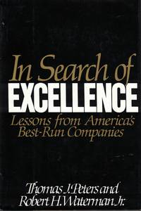 image of In Search Of Excellence lessons from america's best run companies