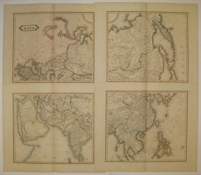Edinburgh: Lizars, William, 1831. unbound. very good(+). Map in four sheets. Engraving with original...