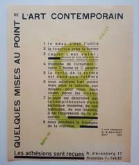 Quelques Mises au Point de l'Art Contemporain