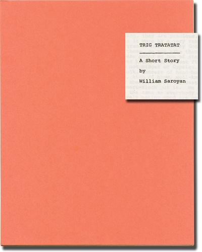 N.p.: N.p., 1964. Original manuscript for an unpublished short story, circa 1974. The Saroyan collec...