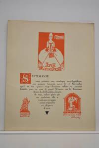 SEPTIMANIE. 44 exlibris, 3 bois originaux, 2 dessins. Catalogue encyclopédique en deux...
