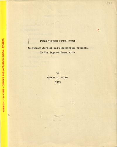 Very Good. 1973. Softcover. A typewritten manuscript in a clear plastic folder. Chips and light soil...