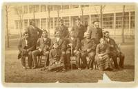 Cabinet Card Photograph of American Indian Delegates and Interpreters Visiting the Carlisle Indian School, Posed Alongside Major James Haworth